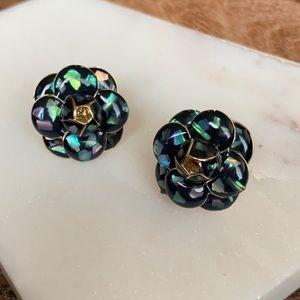 Black Tea Flower Earrings